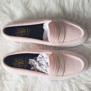 Cole Haan - Nantucket Knit Platform Loafers, Pink